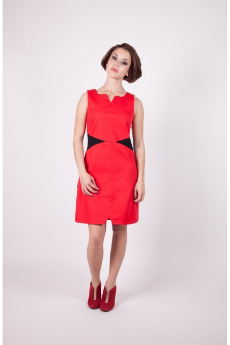 Robe tifia chilia rouge recto agreable a porter vetement createur a prix abordable