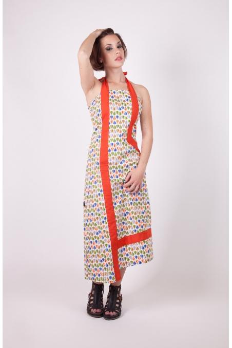 Robe Longae monglofiere orange recto chilia coton mode vestimentaire originale rigolo