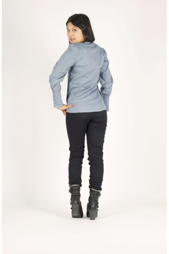 chemise ilemya chilia vêtement de mode pour femme noir recto