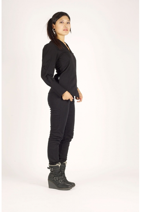 chemise ilemya chilia vêtement de mode pour femme noir cote