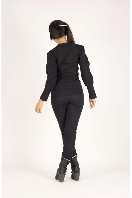 chemise ilemya chilia vêtement de mode pour femme noir verso