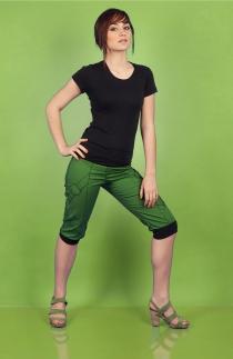 pantacourt wadza chilia créateur de mode novateur styliste modéliste toulouse vert recto1