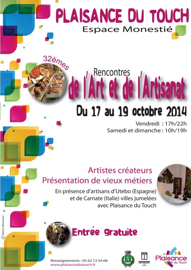 Chilia aux Rencontres de l'Art et de l'Artisanat à Plaisance du Touch du 17 au 19 octobre 2014